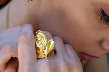 Big Rose Leaf, Silver rose leaf, Real Rose, Gold plated Rose