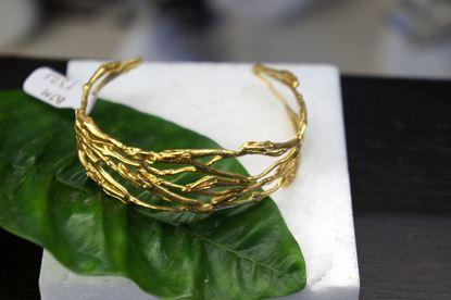 Jasmine Twig Bracelet, Real jasmine twig, Silver Bracelet, Gold plated