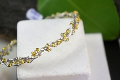 Acacia Branch, Silver Branch, Gold plated, Mother Nature