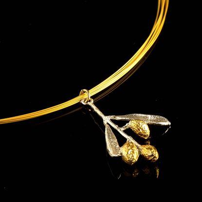 Olive Branch Necklace, Multi Strand Pendant, Greek Pendant, Mother Nature