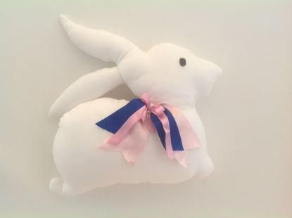 Picture of Bunny-Handmade kids cushion by Elena Farini