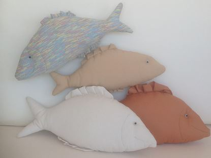 Picture of Fish-Handmade kids cushion by Elena Farini