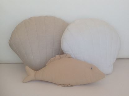 Picture of Seashell-Handmade kids cushion by Elena Farini