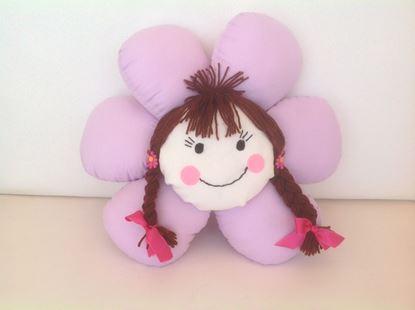 Picture of Flower-Handmade kids cushion by Elena Farini